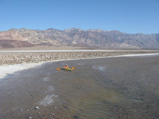 """Death Valley National Park, CA: Death Valley has had 3.2"""" of rain so far this year (yearly average is 1.8""""). So ancient, dry  La"""