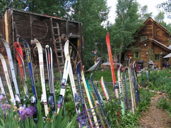 Crested Butte, CO: Recycled skis make great fencing!