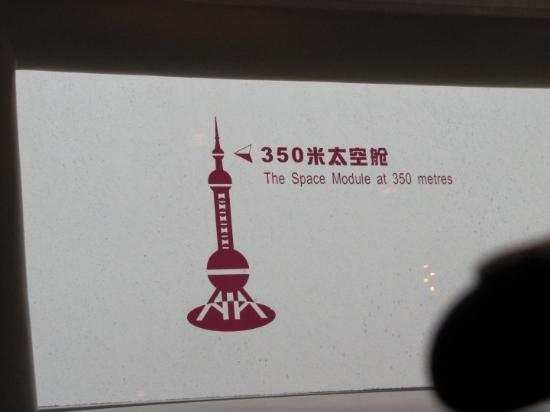 Fjernsynstårnet Østens Perle: Usted esta aqui. A muchos metros de altura.Torre Perla Oriental. Shanghai.