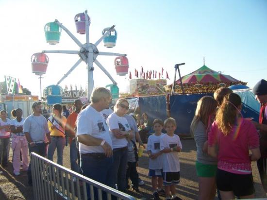 Shreveport, LA: Phil, Jen, Myles and Reece at the fair