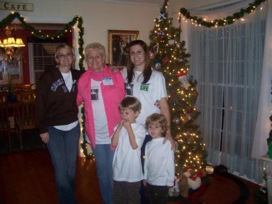 Shreveport, LA: christy, jen, Grandma jenny , ryder and ayden at our home after the picnic
