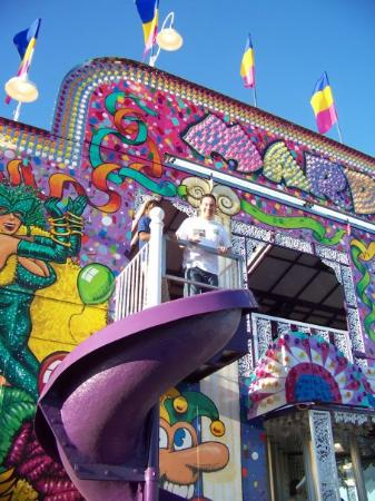 Shreveport, LA: Josh on the funhouse slide
