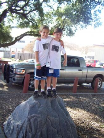 Shreveport, LA: Myles and Reece at the Donor Picnic honoring our Hero Brande Nicole Denson