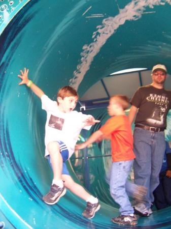 Shreveport, LA: Reece in the tidal wave in the funhouse