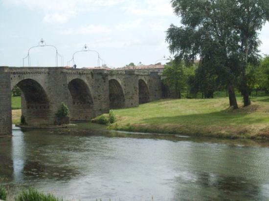 Carcassonne Center, Frankrike: Pont Vieux, construido en el siglo XIV, que atraviesa el río Aude