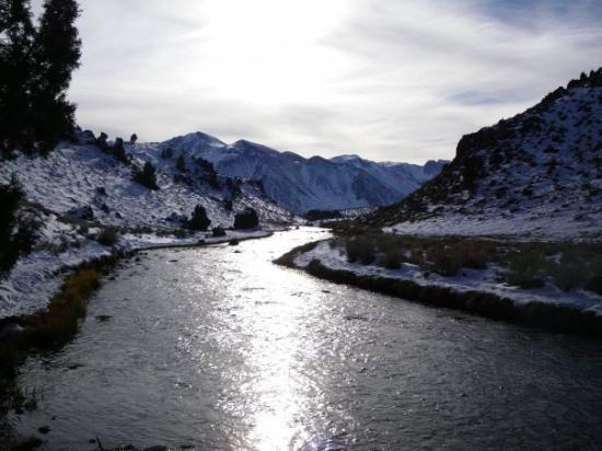 Mammoth Lakes, CA: Hot Creek in the canyon
