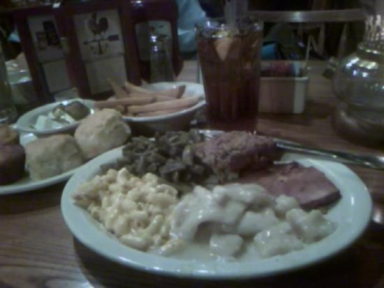 Troutville, VA: chicken n dumplings, meatloaf, sweet ham, mac n cheese, greens biscuits, cornbread, streak fires
