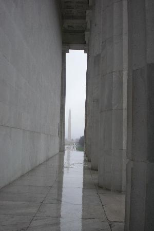 DC by Foot: View Tim showed us from Lincoln memorial