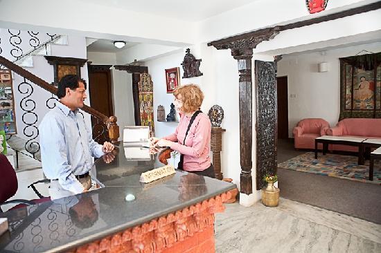 Hotel The Sacred Valley Home: Reception desk  Sacred Valley Inn
