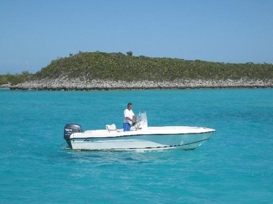 Fowl Cays National Park: The boat we used during your stay