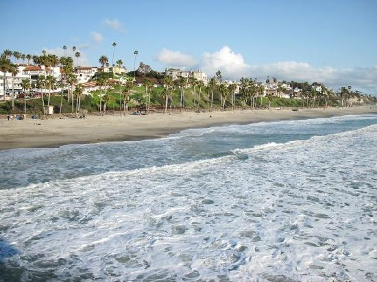 San Clemente, CA: From the pier looking towards the motel.