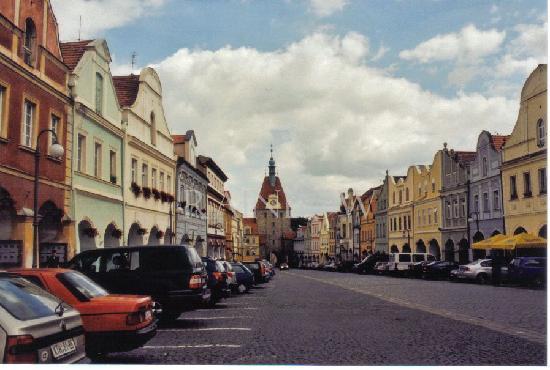 Domazlice, Tsjekkia: market place