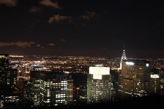 'Top of the rock' utsiktspost, Rockefeller New York: Night view