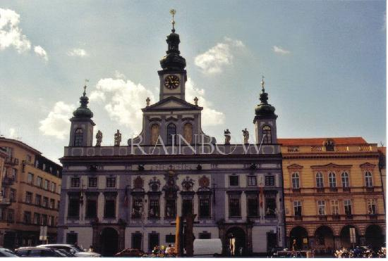 Ceske Budejovice, Tsjekkia: town hall 18th century