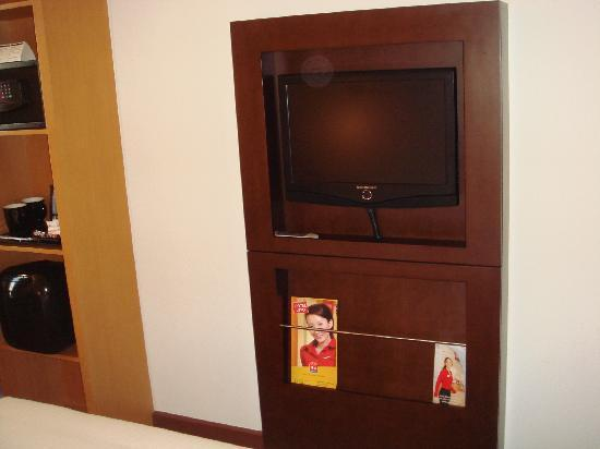Ibis Singapore on Bencoolen: TV-see how they save space