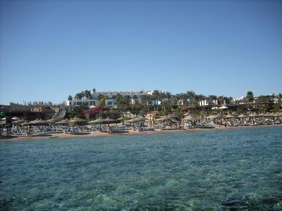 Sierra Sharm El Sheikh: View of the beach and resort from the jetty