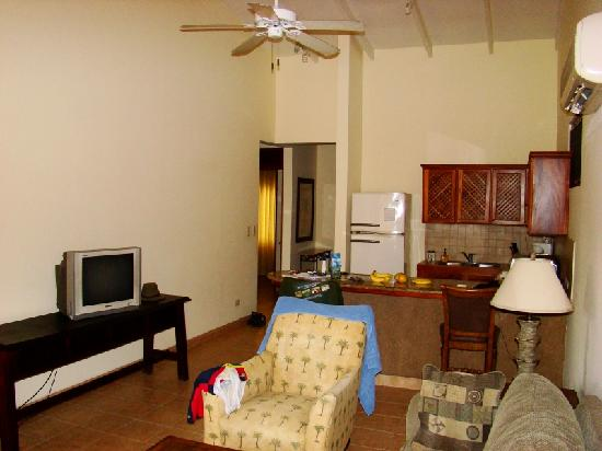 Club del Sol: one view of living/kitchen area