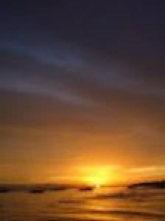 Marlin's Beach Resort: sonnenuntergang