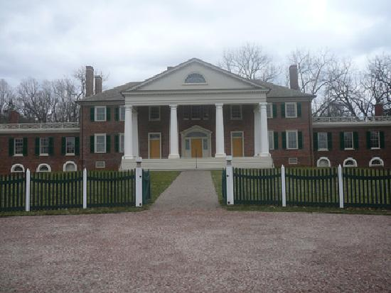 James Madison's Montpelier: The front of the home