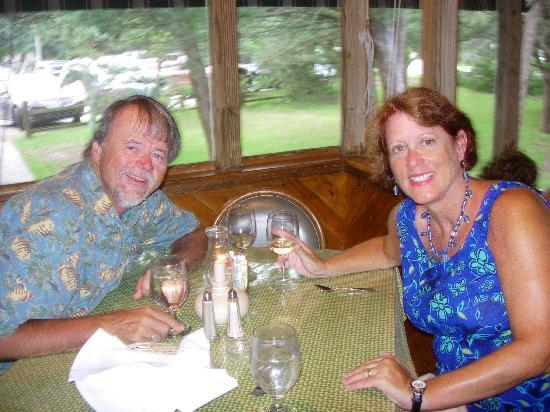 Back Porch: Enjoying dinner
