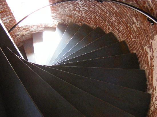 Sapelo Island, GA: Steps inside the lighthouse