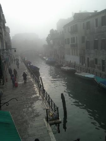 Hotel Locanda Salieri: Early morning mists roll away, as seen from our balcony