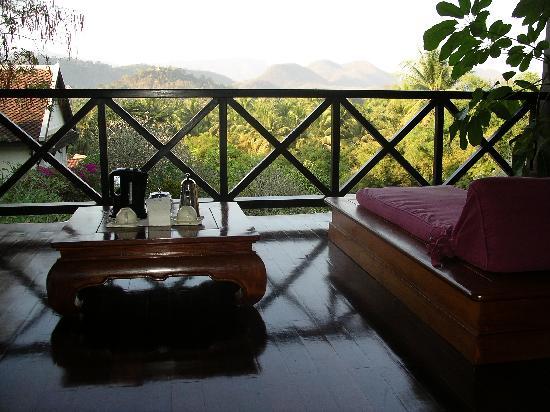 Belmond La Residence Phou Vao: View of balcony