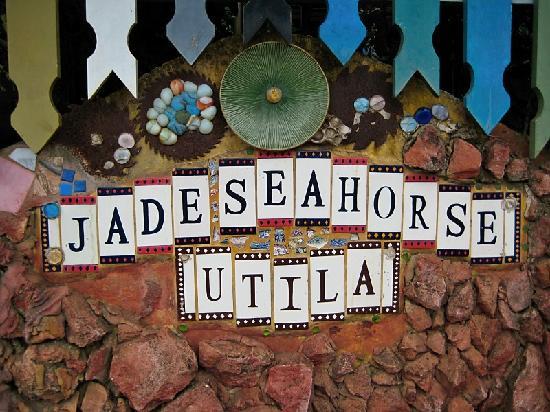 Nightland Cabins at JadeSeahorse: sign at the front