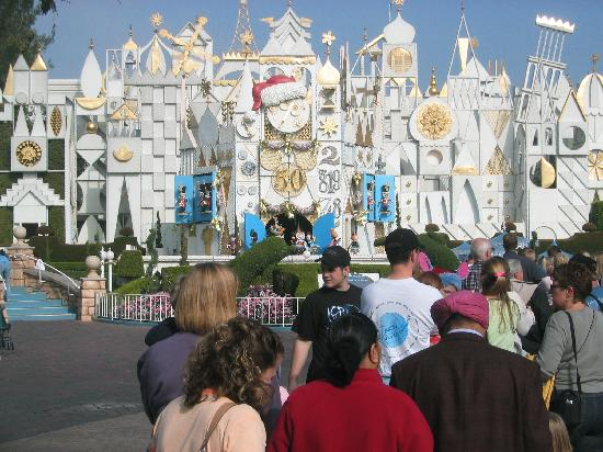 Disneyland Park: It's a Small World decorated for Christmas