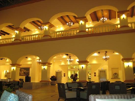 Heaven at the Hard Rock Hotel Riviera Maya: North lobby interior at night