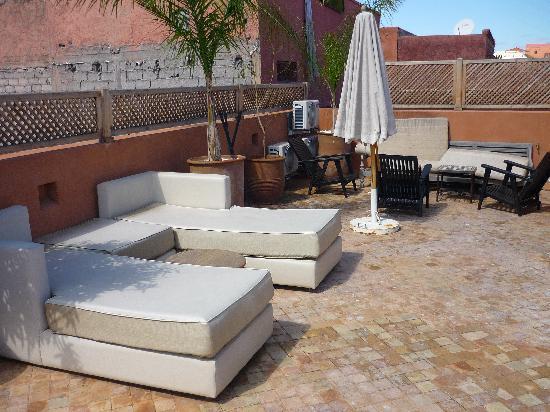 Riad Dar More: La terraza