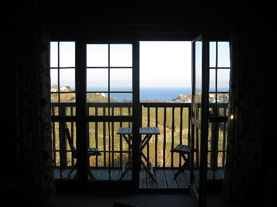 Gwel an Mor: The view out of our Lodge's living room