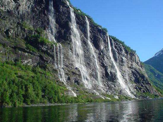 Explore the fjord on your own: The Seven Sisters