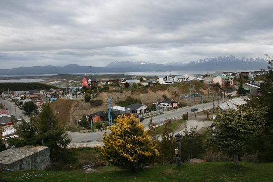 Hotel Ushuaia: View of city and Beagle Channel from our room