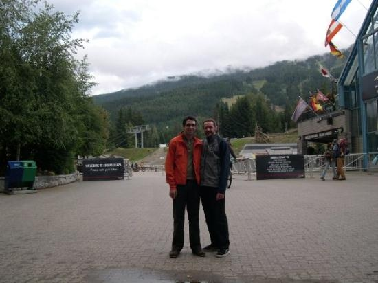 Nick and me in Whistler Village, about to hike at the peak of Whistler Mountain.