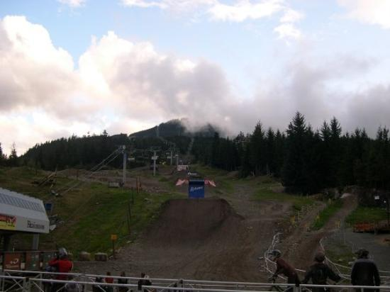 Whistler, Canada: The weather cleared on and off all day, but mostly rained.