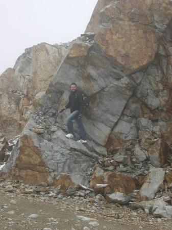 Whistler, Canada: Me on a rock.