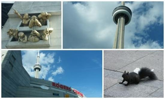 Onwards to Toronto to see the CN Tower, officially the world's largest loose standing structure.