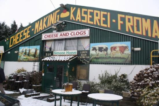 At the cheese and clog farm in Volendam