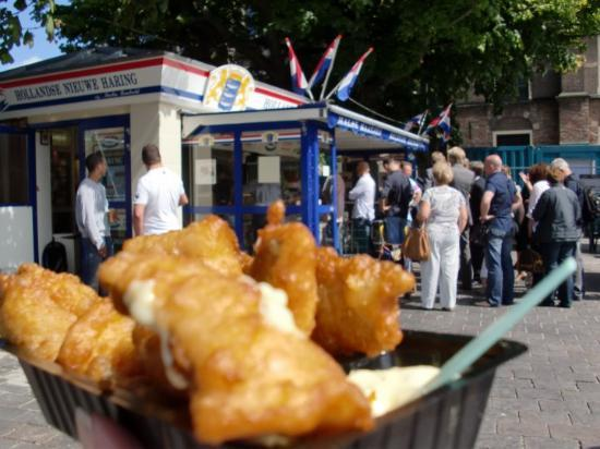 Haag, Nederland: ハーグ, オランダ王国 Fish fries Uu~n,yummyyyy !