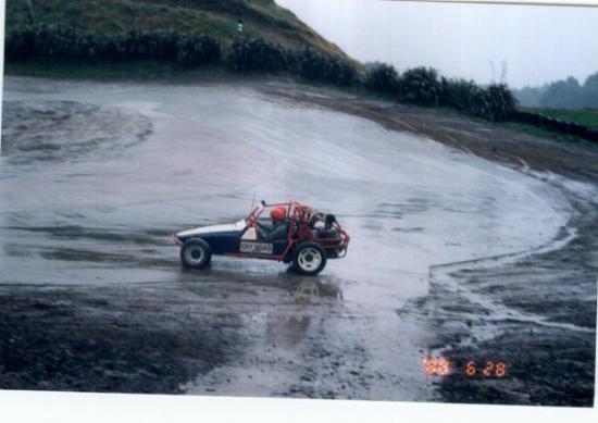 Rotorua, New Zealand: Sand buggy in New Zealand on a circle track