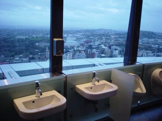 Rotorua, New Zealand: New Zealand Auckland Sky Tower bathroom