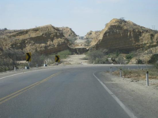 Talara, Peru: The road got washed out... so now you go around.