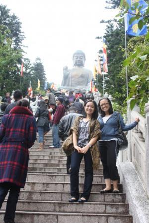 Den store Buddha: big buddha stairs