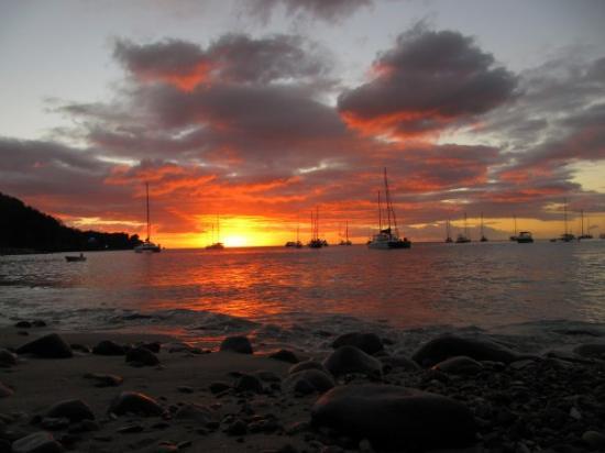 Pointe-a-Pitre, Guadeloupe: Das war der geilste Sonnenuntergang ever....
