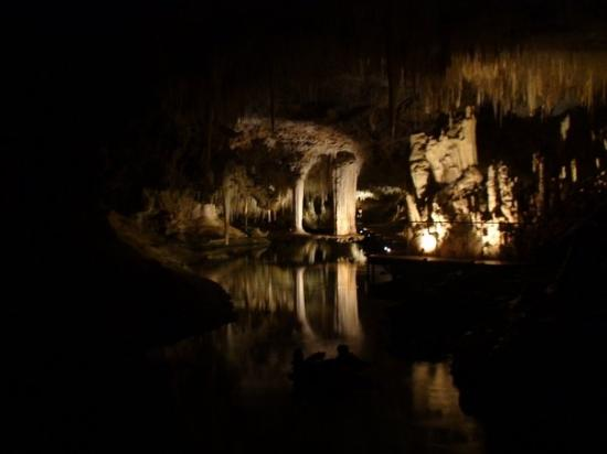 beautiful lake cave. notice the 'Floating Table' formation at the centre of the pic?