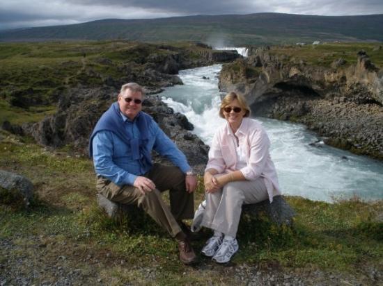 Akureyri, Island: Waterfall in Iceland