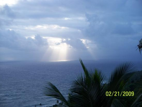 This was an incredible sunrise on this day in Dominica