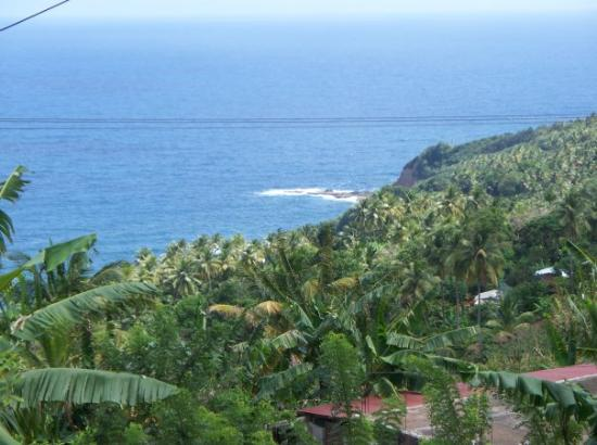 View from the church in Dominica