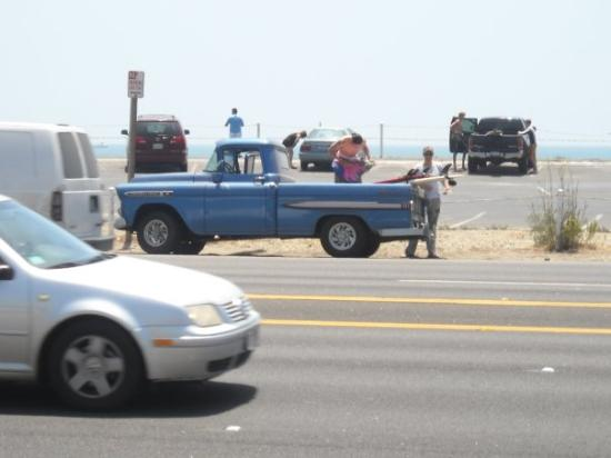 Pacific Coast Highway: This truck is tight.